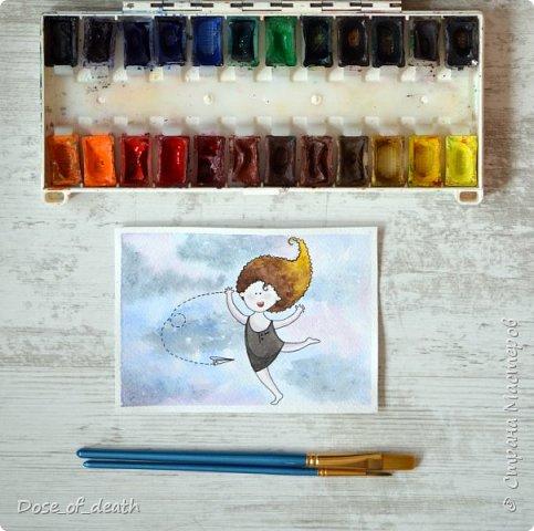Началось всё с рисунков с дочкой. В ходе которых родилась девочка с рыжими волосами. Мне понравилась эта идея и я решила её развить. фото 8