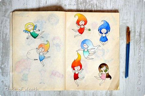 Началось всё с рисунков с дочкой. В ходе которых родилась девочка с рыжими волосами. Мне понравилась эта идея и я решила её развить. фото 2