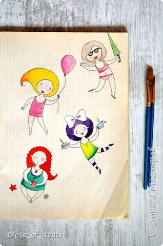 Началось всё с рисунков с дочкой. В ходе которых родилась девочка с рыжими волосами. Мне понравилась эта идея и я решила её развить. фото 3