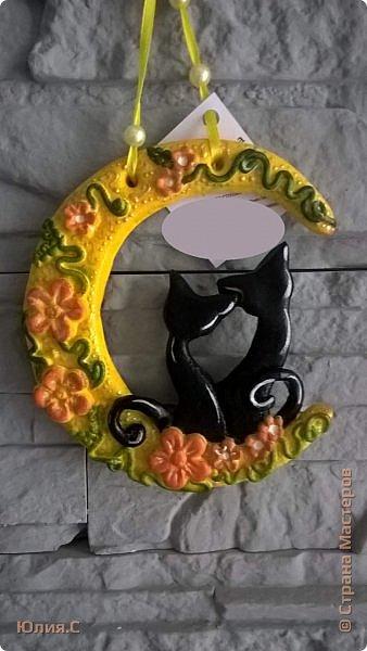Мои летние соленушки-повторюшки.  За идею лунных котов благодарю Евгешу http://stranamasterov.ru/node/934142?tid=1300 Своим котам добавила орнамент золотым контуром. фото 1