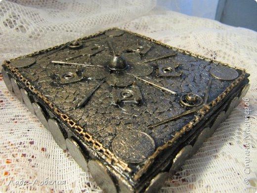 Хлам-декор, первая и единственная пока попытка. Маленькая коробочка. фото 1