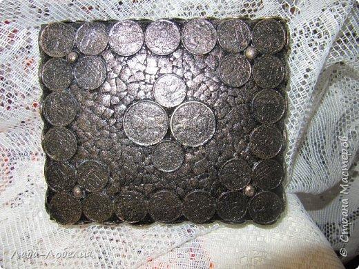 Хлам-декор, первая и единственная пока попытка. Маленькая коробочка. фото 3