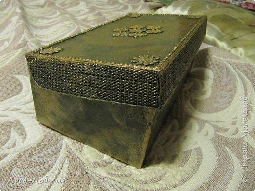 Хлам-декор, первая и единственная пока попытка. Маленькая коробочка. фото 8