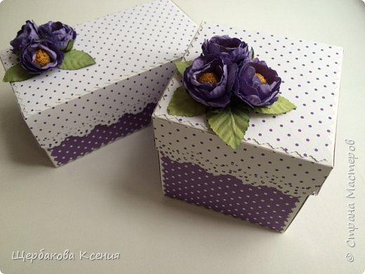 Две коробочки,одна-для подарка,другая-с фото и пожеланиями близкому человеку фото 1
