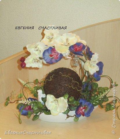 """""""МАКОВКА""""- использованы натуральные кофейные зерна, искусственные цветы-  маки, флор зелень, металлический декор-подкова, керамическая подставка, декоративные шары фото 15"""