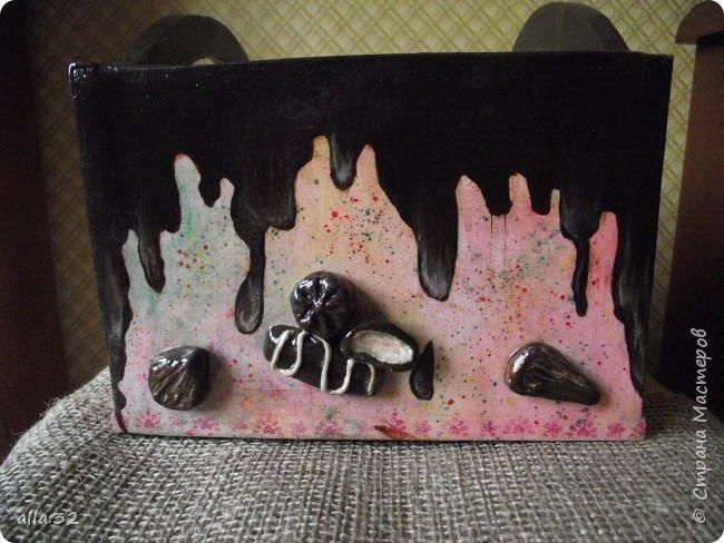 Коробулька. (В работе использовала салфетки,распечатки,акриловые краски и яхтенный лак). фото 11