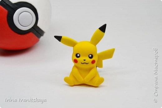 В этом уроке я покажу как лепить фигурку покемона пикачу из пластики фимо по мотивам популярной игры Pokemon GO. фото 2