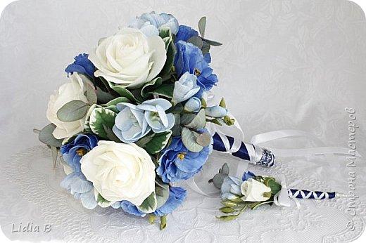 Свадебный букет, сделан на заказ, уедет в Германию. фото 6