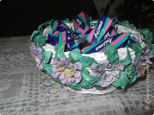 Конфетница с цветочками  фото 3