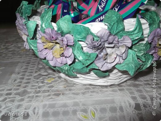 Конфетница с цветочками  фото 4