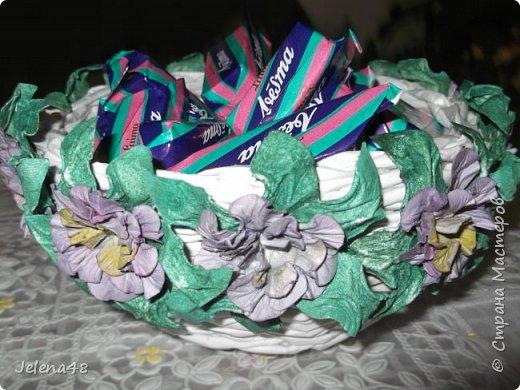 Конфетница с цветочками  фото 5