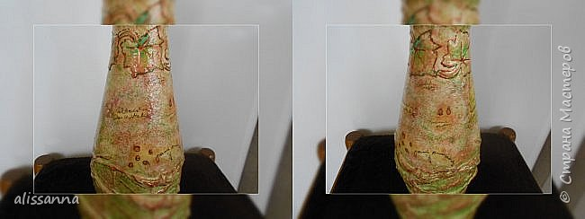 Доброе время суток....жители Страны....)))))))) пришла и моя пора хвастаться превращением бутылочки в вазочку....)))))))))  Получилась вот такая штучка....))))) моя помощница принимала активное участие в фотосессии бутылочки....поэтому сначала покажу фото с ее участием....)))))))))  Это лицо бутылочки....))))))) фото 12