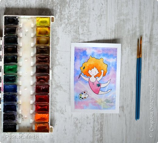 Началось всё с рисунков с дочкой. В ходе которых родилась девочка с рыжими волосами. Мне понравилась эта идея и я решила её развить. фото 7