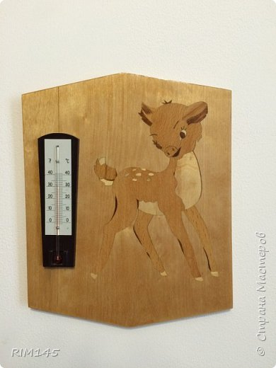 Маркетри 'Бэмби' для настенного комнатного термометра.  фото 22
