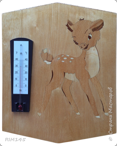 Маркетри 'Бэмби' для настенного комнатного термометра.  фото 1