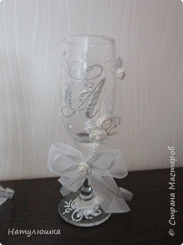 Бокалы на серебряную свадьбу. фото 2
