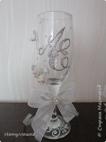 Бокалы на серебряную свадьбу. фото 3