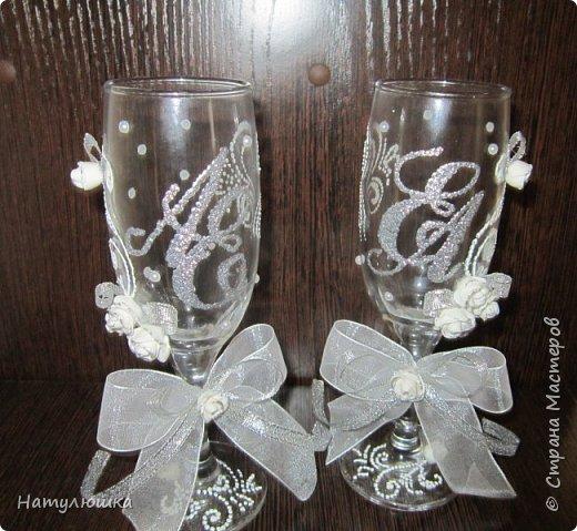Бокалы на серебряную свадьбу. фото 1