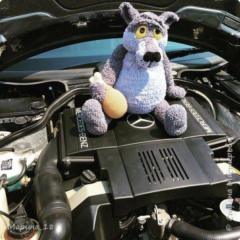 """Моя самая свежая авторская игрушка Волк из мульта """"Жил-был Пёс"""".  Сидя 40 см. фото 2"""