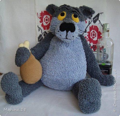 """Моя самая свежая авторская игрушка Волк из мульта """"Жил-был Пёс"""".  Сидя 40 см. фото 1"""