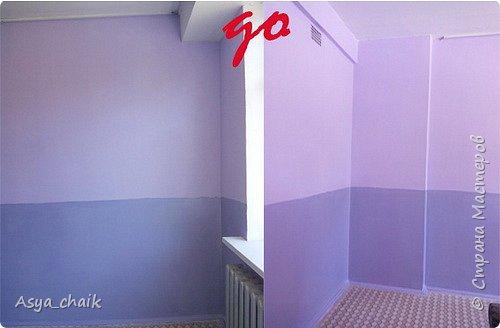 """Вот что в итоге получилось... Предыстория: Делали ремонт в группе. Мне сказали, что покрасили криво, т.е. надо делать бордюры. В нашем городе с нормальными бордюрами напряжёнка, пришлось выкручиваться, т.к. это спальня и стены """"как на ладони""""  фото 2"""
