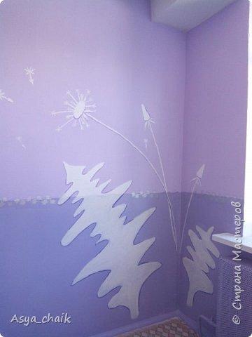 """Вот что в итоге получилось... Предыстория: Делали ремонт в группе. Мне сказали, что покрасили криво, т.е. надо делать бордюры. В нашем городе с нормальными бордюрами напряжёнка, пришлось выкручиваться, т.к. это спальня и стены """"как на ладони""""  фото 5"""
