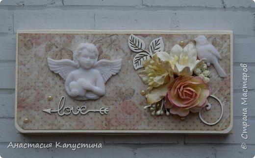 Свадебная открытка и конверт фото 2