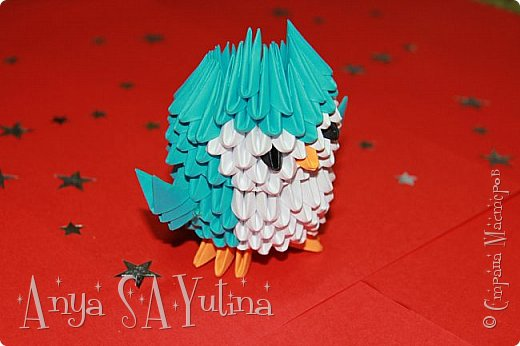 Здравствуйте) Сейчас я вам расскажу и покажу, как делать эту сову техникой модульное оригами. Чтобы посмотреть урок, спуститесь чуть ниже по странице:) фото 2