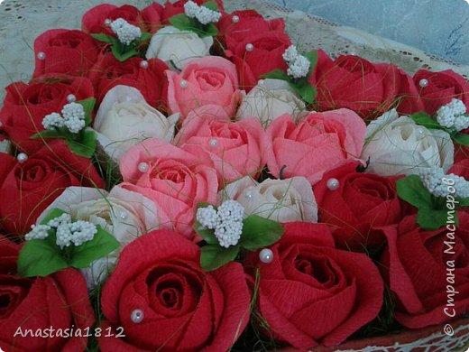 сердце с цветами+конфеты фото 3