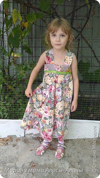 Сшила младшей дочке сарафанчик. фото 1