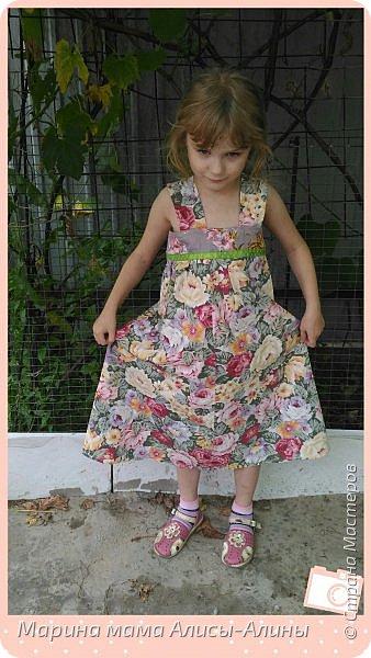 Сшила младшей дочке сарафанчик. фото 2
