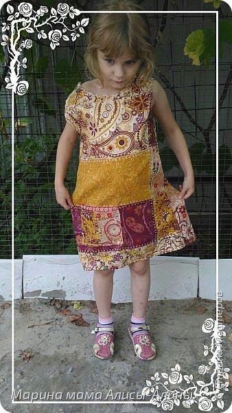 Сшила младшей дочке сарафанчик. фото 4