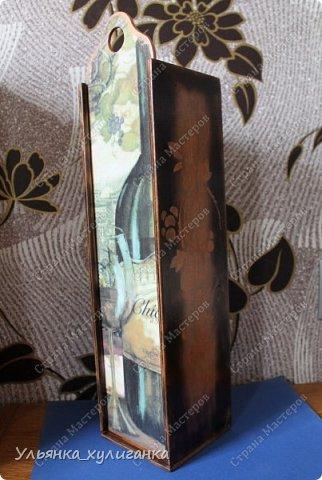 Углы короба обожгли, на боковых сторонах рисунок виноградной лозы. фото 1