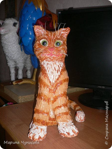 Котик из папье-маше. фото 1