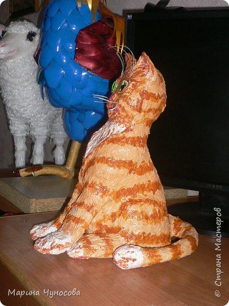 Котик из папье-маше. фото 2