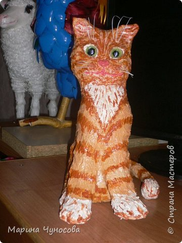 Котик из папье-маше. фото 3