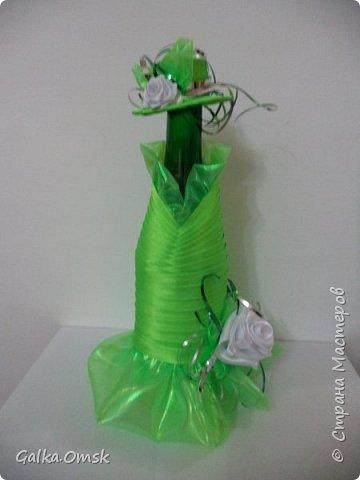 Одёжка на бутылку в подарок повару .Вилки и ложки - пластиковые фото 7