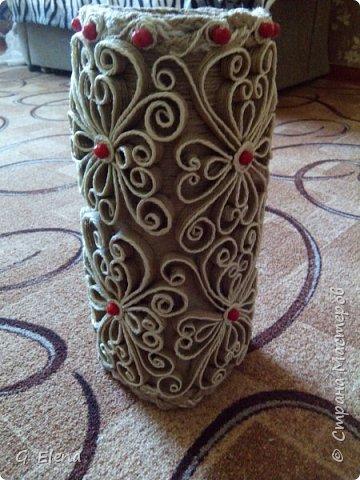 Вот такую чудесную вазу с цветами сотворила в качестве подарка ко дню рождению ! Именинница была в восторге!)Приятно приносить людям радость!! фото 4