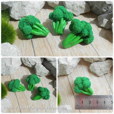 """Всем привет! Давненько меня не было)) Сегодня хочу показать миниатюрные """"Фрукты-овощи"""" из термопластики. Накопилось очень много фотографий, пост будет длинный, поэтому кто досмотрит до конца буде бонус-МК клубнички)) фото 11"""