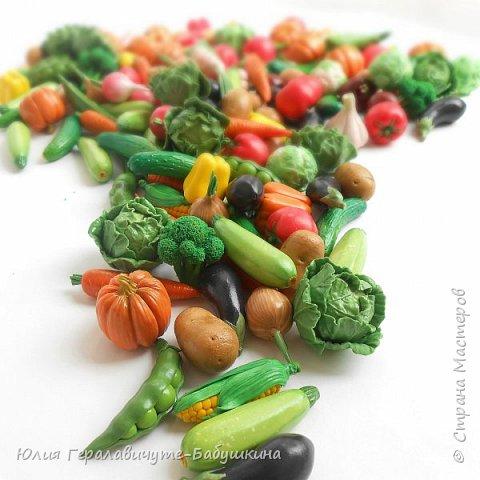 """Всем привет! Давненько меня не было)) Сегодня хочу показать миниатюрные """"Фрукты-овощи"""" из термопластики. Накопилось очень много фотографий, пост будет длинный, поэтому кто досмотрит до конца буде бонус-МК клубнички)) фото 24"""