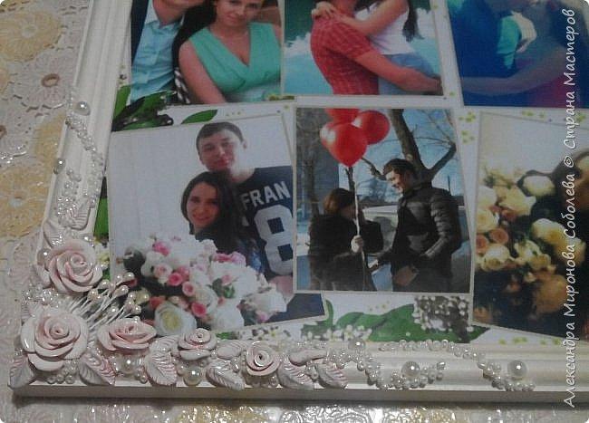 Вот такой подарок-сюрприз я приготовила для молодоженов. Сделала свадебный набор, осталось несколько розочек... налепила еще несколько цветочков, листиков, покрыла автоэмалью  (розочки разных оттенков были). фото 3