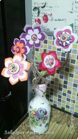 Цветы из фетра фото 2