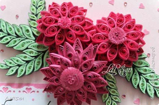 Доброго всем дня! Мои открытки. Сделаны по просьбе. На свадьбу - в розово -голубом цвете и на юбилей - малиновые цветы. Если есть что сказать о моих работах, то мне приятно будет услышать. Благодарю! фото 9
