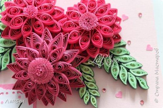 Доброго всем дня! Мои открытки. Сделаны по просьбе. На свадьбу - в розово -голубом цвете и на юбилей - малиновые цветы. Если есть что сказать о моих работах, то мне приятно будет услышать. Благодарю! фото 13