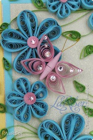 Доброго всем дня! Мои открытки. Сделаны по просьбе. На свадьбу - в розово -голубом цвете и на юбилей - малиновые цветы. Если есть что сказать о моих работах, то мне приятно будет услышать. Благодарю! фото 4