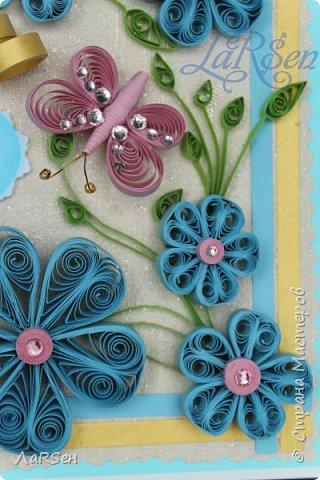 Доброго всем дня! Мои открытки. Сделаны по просьбе. На свадьбу - в розово -голубом цвете и на юбилей - малиновые цветы. Если есть что сказать о моих работах, то мне приятно будет услышать. Благодарю! фото 5