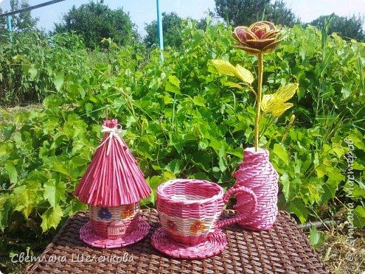 Всем доброго времени суток! После того, как сплела мельницы, решила сплести чайный домик. фото 1