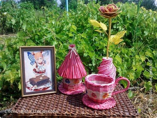 Всем доброго времени суток! После того, как сплела мельницы, решила сплести чайный домик. фото 2