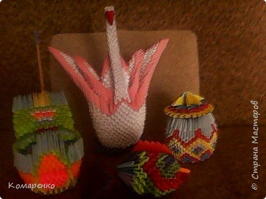 Поделки:лебедь,шкатулка,корабль удачи и рыбка. фото 1