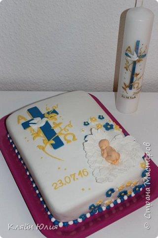 Вот такой тортик получился на крестины доченьки... фото 2